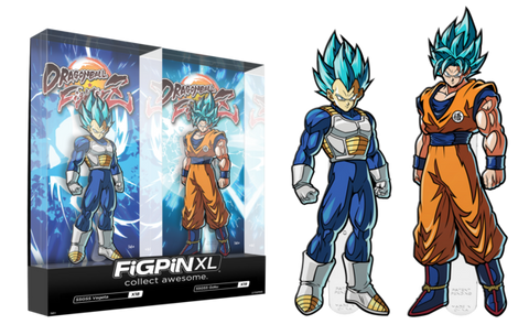 Figpin XL Dragon Ball Z - SSGSS Vegeta and SSGSS Goku 2 Pack 2019 Summer Convention Sticker (Buy. Sell. Trade.)