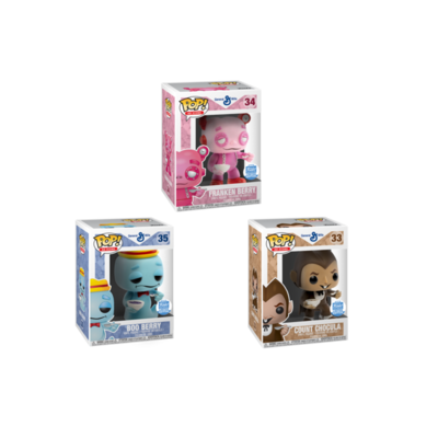 Funko Pop! Ad Icon General Mills Count Chocula 33, Franken Berry 34, Boo Berry 35 Set of 3 (Buy. Sell. Trade.)