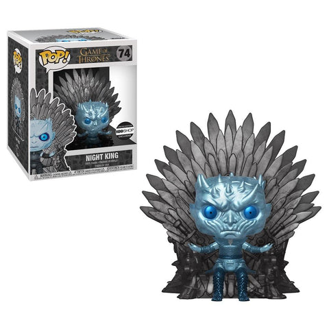 Funko Pop! Television: Game of Thrones - Night King on Throne 74 (Metallic) HBO Exclusive with Sticker ( Buy. Sell. Trade)
