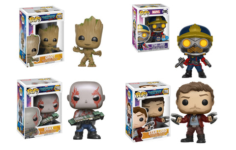 Funko Pop! Marvel Guardians of the Galaxy 4 PCS Set W. Protectors (Buy. Sell. Trade.)
