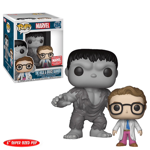 "Funko Pop! Marvel: The Hulk and Bruce Banner 6"" Collector Corps Exclusive (Buy. Sell. Trade.)"