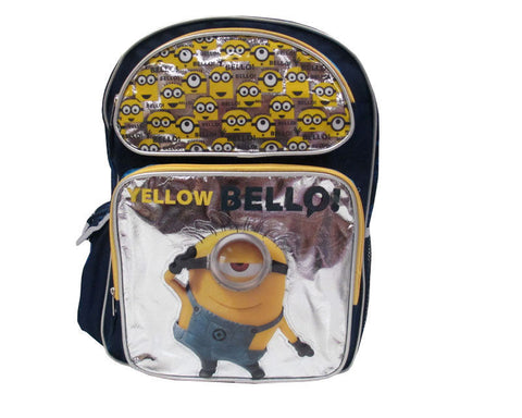 Despicable Me Minion Backpack Yellow Bello 16""