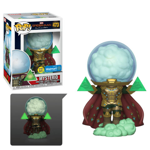 Funko Pop! Marvel: Spider-Man Far From Home - Mysterio (GITD) 473 Walmart Exclusive ( Buy. Sell. Trade)