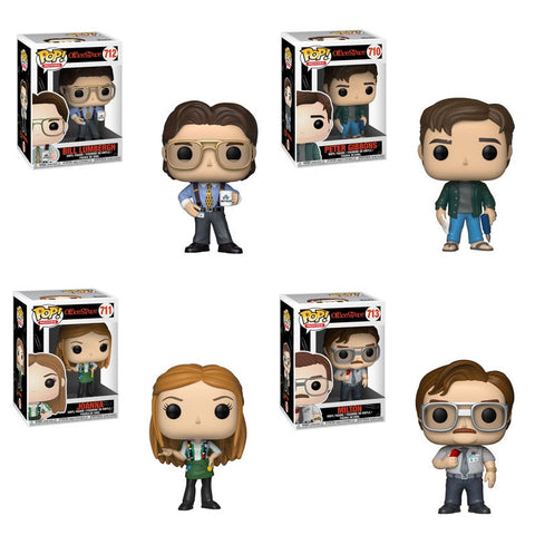 Funko Pop! Movies: Office Space - Bill Lumbergh, Joannna, Milton Waddams, Petter Gibbons Set