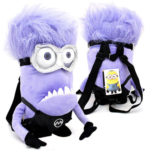 Despicable Me 2 Purple Minion 2-Eye Plush Backpack