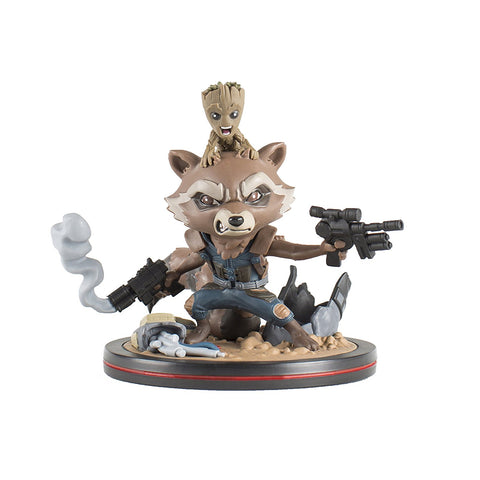 Rocket and Groot Q-Fig Diorama