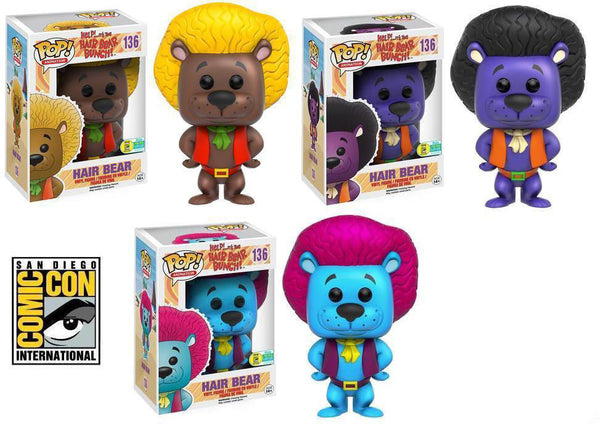 Pop! Animation Vinyl Hair Bear Bunch Set SDCC 2016 Summer Convention Exclusive