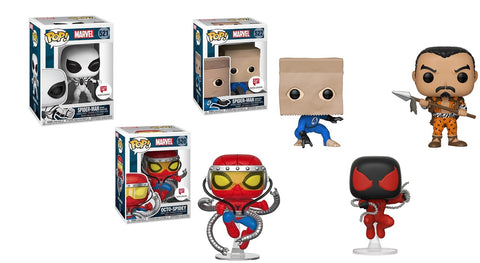 Funko POP! Spider-Man Set of 3: Octo-Spidey, Future Foundation, Bag-Man, Kraven the Hunter, Scarlet Spider (Kaine Parker) Walgreens Exclusive (Buy. Sell. Trade.)
