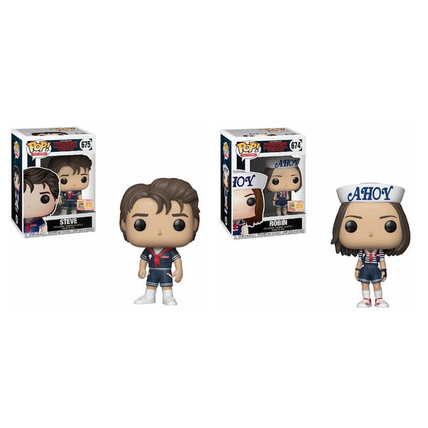 Funko Pop! Stranger Things: Steve and Robin Set SDCC 2018 Limited Edition (Buy. Sell. Trade.)