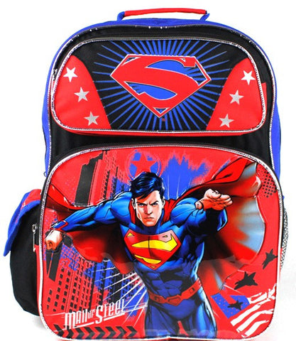 DC Comics Superman Man of Steel 16 Inch BackPack