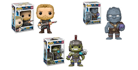 Funko Pop! Marvel- Thor Ragnarock 3 Piece Set  Korg, Thor, Hulk (Buy. Sell. Trade.)