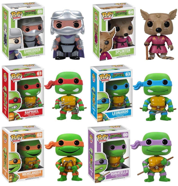 Funko Pop! Television- Teenage Mutant Ninja Turtles 6 Piece Set (Buy. Sell. Trade.)