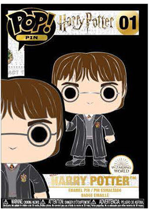 Funko Pop! Pins: Asst: Harry Potter - Harry Potter, Hermione Granger, Ron Weasley, Dumbledore LG Enml Pin with Chance of Hedwig chase (Coming Soon)