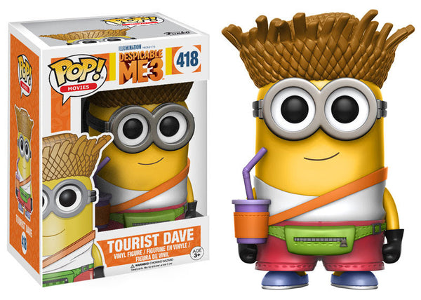 Pop! Movies Vinyl Despicable Me 3 Tourist Dave