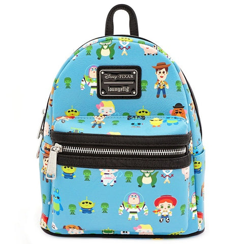 Loungefly Toy Story Chibi Print Faux Leather Mini Backpack