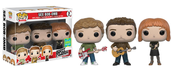 Pop! Movies: Scott Pilgrim vs. The World - Sex Bob-Omb 3-Pack SDCC 2016 Exclusive