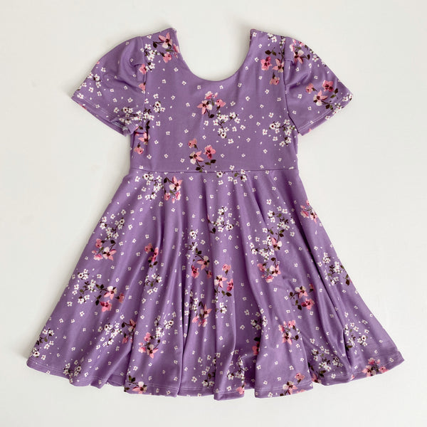 Purple Floral Dress - RTS