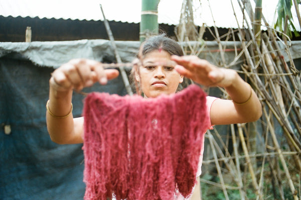 Know your maker - ethical fashion in Assam, naturally dyed eri silk.