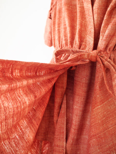 Eri Silk Fabric Indian Madder