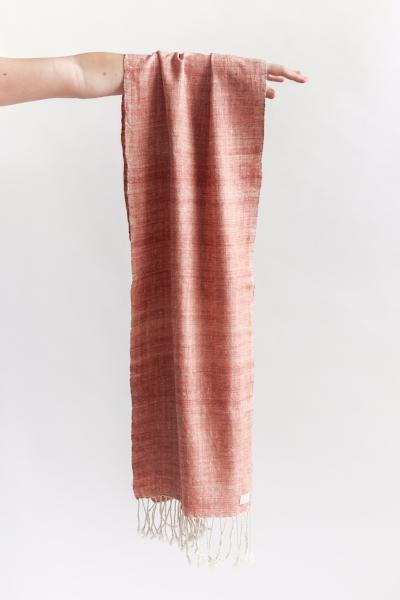 Peace silk scarf with natural dye madder