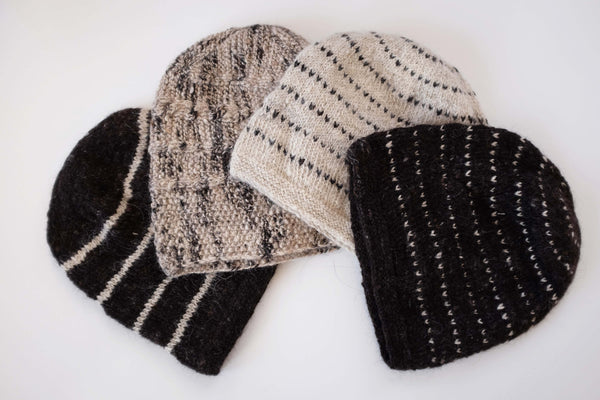 Handspun and handknitted beanies from organic lambswool from Ladakh. 100% natural fibers. Slow and mindfully made.