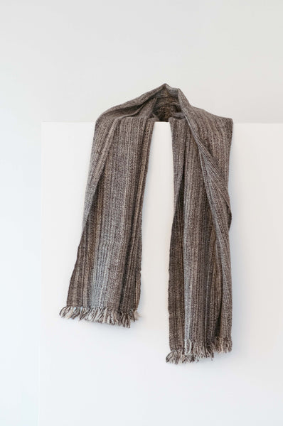 Lambswool scarf from India handspun and handwoven. Organic wool.