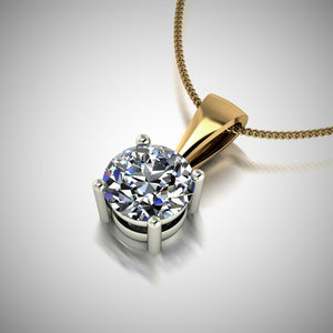 Moissanite Set Pendants