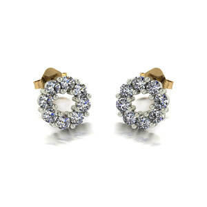 0.80ct (16x 2.3mm) Round Moissanite Set Earrings