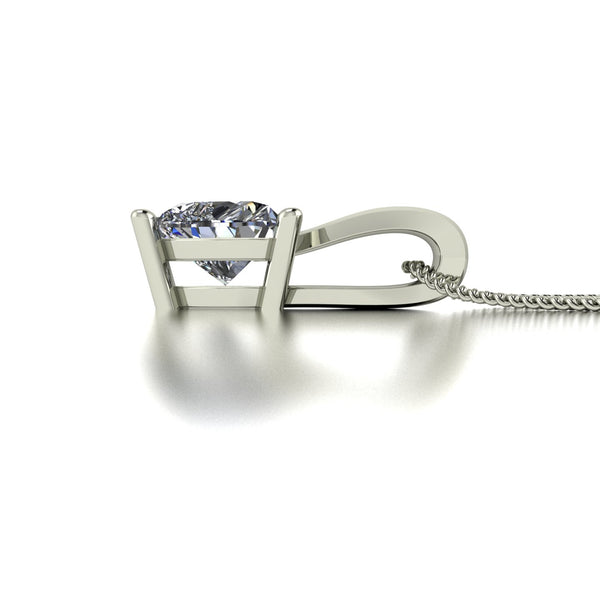 0.50ct (1x 5.0mm) Heart Moissanite Set Pendant