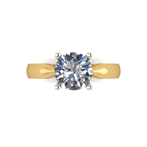 1.50ct (1x 7.5mm) Round Moissanite Set Single Stone Ring