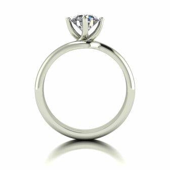 1.00ct (1x 6.5mm) Round Moissanite Bridal Set