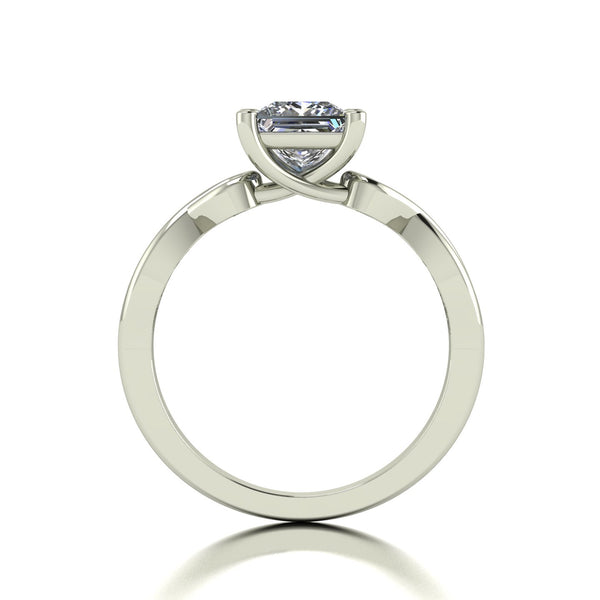1.05ct (1x 5.5mm) Square Moissanite Set Single Stone Ring