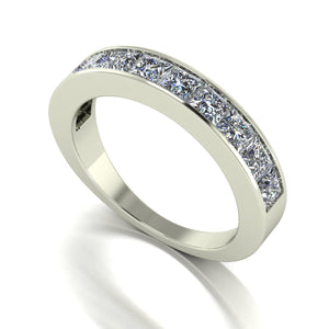 1.80ct (10x 3.0mm) Square Moissanite Set Eternity Ring