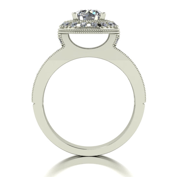 1.50ct (1x 6.5mm & 40x 1.3mm) Round Moissanite Set Cluster Ring