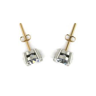 1.50ct (2x 6.0mm) Round Moissanite Set Earrings