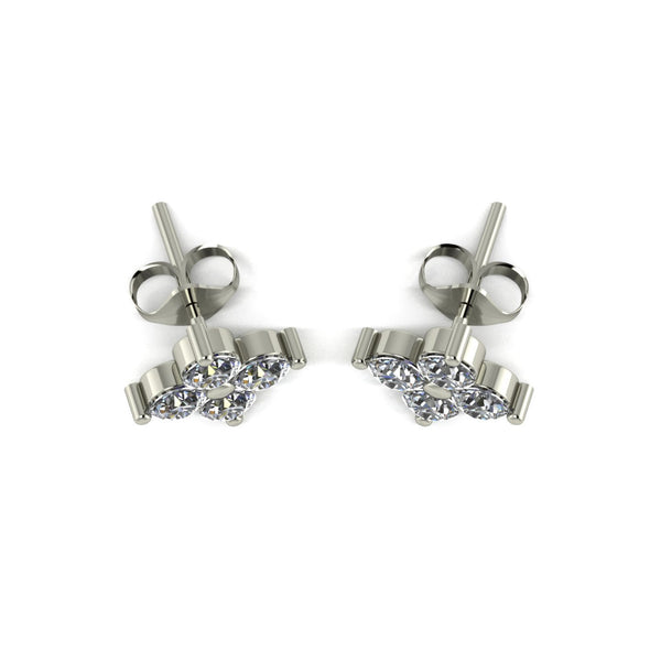 1.25ct (8x 3.25mm) Round Moissanite Set Earrings