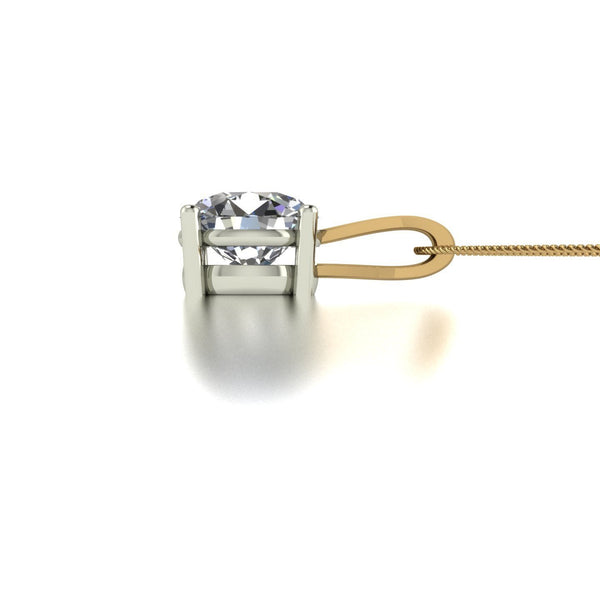 3.00ct (1x 9.0mm) Round Moissanite Set Pendant