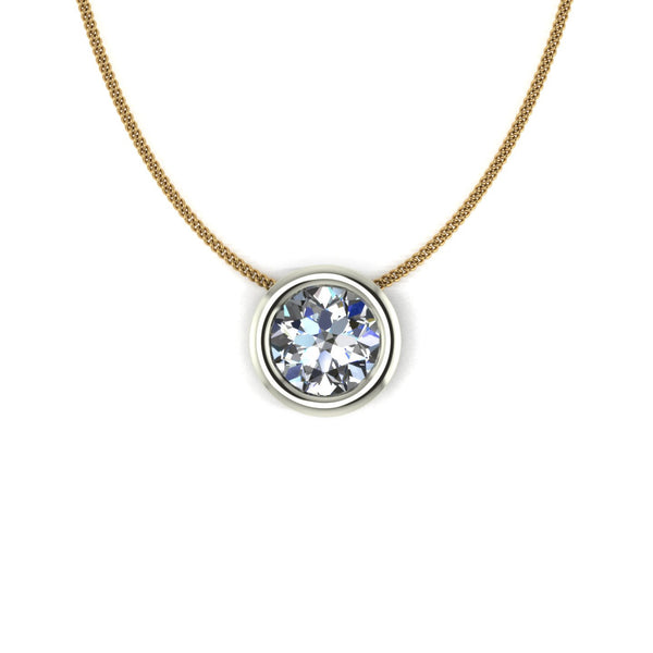 1.00ct (6.5mm) Round Moissanite Set Pendant