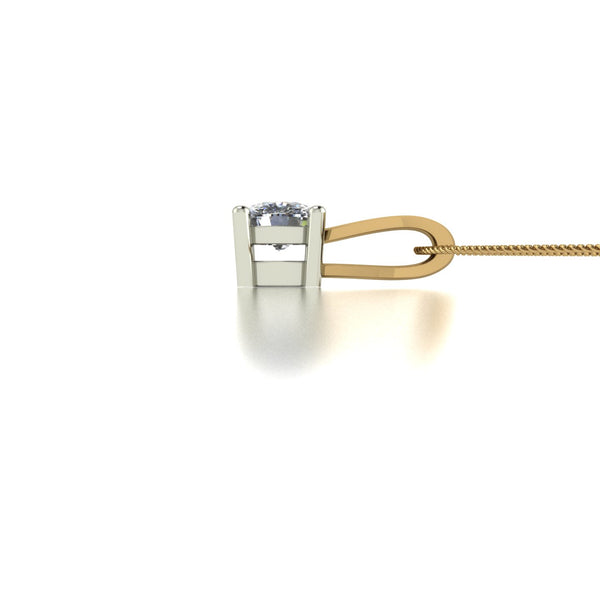 0.50ct (1x 4.5mm) Cushion Moissanite Set Pendant