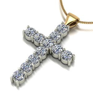 1.20ct (11x 3.0mm) Round Moissanite Set Pendant