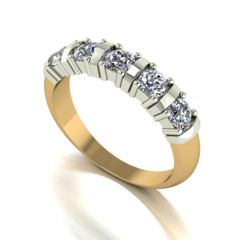 1.00ct (5x 3.5mm) Round Moissanite Set Eternity Ring