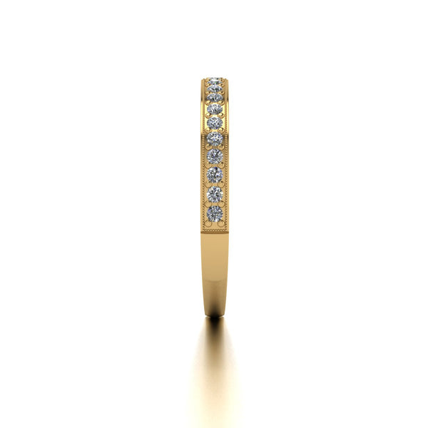 0.25ct (22x 1.4mm) Round Moissanite Set Eternity Ring