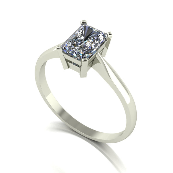 1.18ct (1x 7x5mm) Radiant Moissanite Set Single Stone Ring
