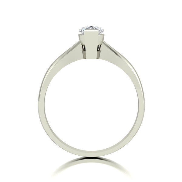 0.98ct (1x 8x5mm) Pear Moissanite Set Single Stone Ring