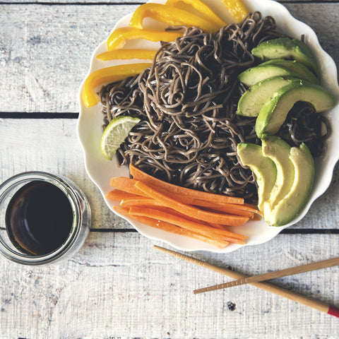 Serrano Honey Soba Noodle Salad