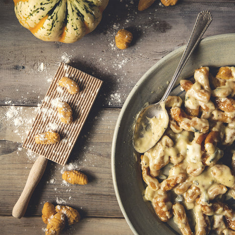 Pumpkin Gnocchi with Gorgonzola Cream Sauce