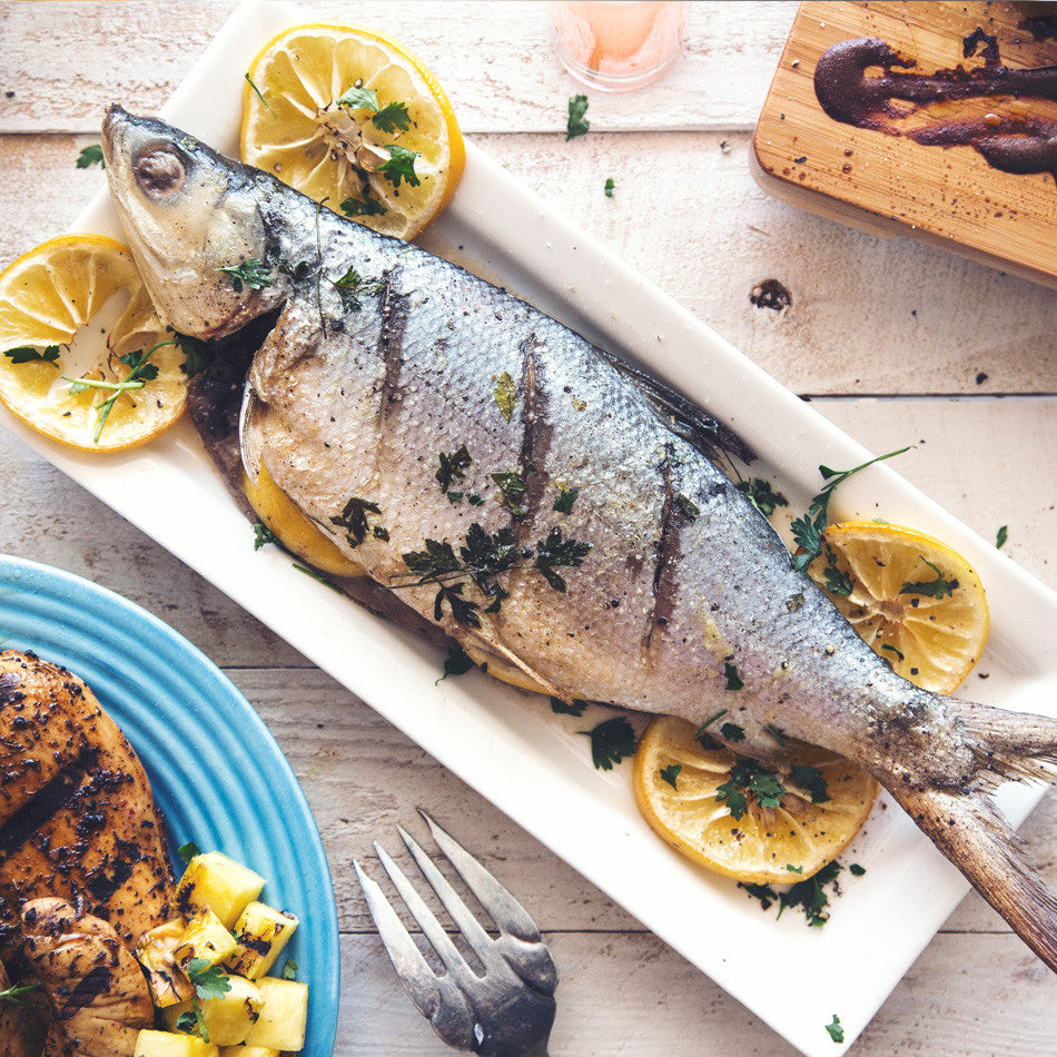 Roasted Lemon Garlic Whole Fish