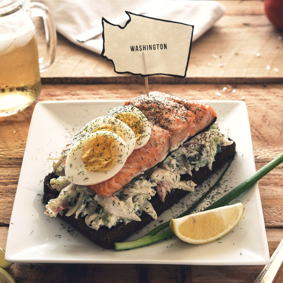 Salmon and Crab Salad Sandwich