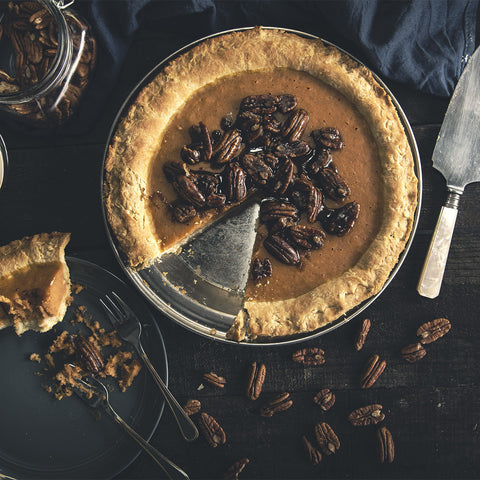 Sweet Potato Pie With Bourbon Pecans