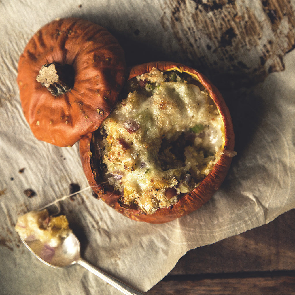 Cheesy Stuffed Pumpkin